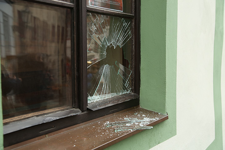 A2B Glass are able to board up broken windows while they are being repaired in Hayes.